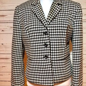 Worthington Houndstooth Blazer